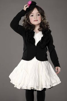 Little girl fashion cute dress with blazer