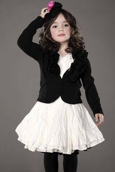 Little girl fashion cute dress with blazer