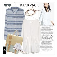 """""""Back to School♥♥♥"""" by marthalux ❤ liked on Polyvore featuring MANGO, Converse, Casetify, Ray-Ban, StreetStyle and BackToSchool"""