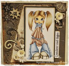 A really cute easel card. and the coloring....wow!