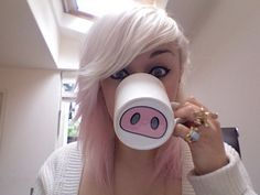 Pig nose mug very DIY