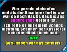 Bester Moment an der Kasse! :)  #Humor #lustig #lachen #Sprüche #SpruchdesTages #Edeka #Rewe #Lidl