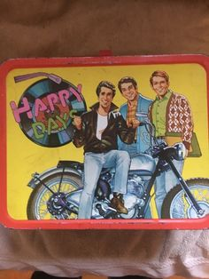 Vintage 1976 HAPPY DAYS Thermos Brand Metal Lunchbox
