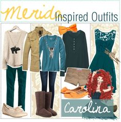 """Merida Inspired Outfits"" by tip-glitter-girls ❤ liked on Polyvore"