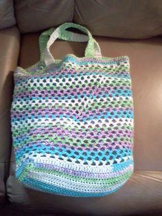 Grocery Tote Bag By Nancy J. Livengood - Free Crochet Pattern - (ravelry)