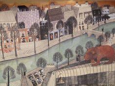 Un Lion a Paris, Beatrice Alemagna- this woman's children's books are amazing!
