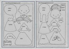 ARTE COM QUIANE - Paps,Moldes,E.V.A,Feltro,Costuras,Fofuchas 3D: moldes Elsa e Anna Filme Frozen
