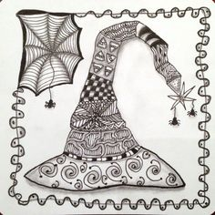 Joey's Weekly Zentangle Challenge - Witch's Hat