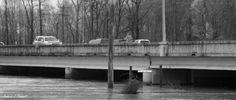 Germantown Road by Andrea Cowart on Capture Memphis // Wolf River flowing under the bridge on Germantown Road. It has also swallowed what was the Wolf River Greenway