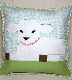 Little Lambkin Quilted Easter Pillow Pattern