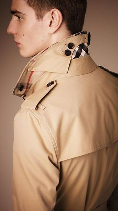 Texture, Details, & How it makes you feel: The holy trinity of fashion, in my book. No reason why men should be excluded!!!  Burberry The Sandringham - Long Heritage Trench Coat