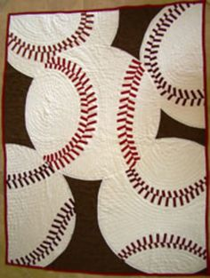 5 Sports Quilt Patterns plus footballs cute