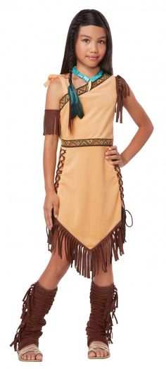 Native American Indian Princess Child Costume Size: Small