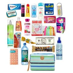 Back to school survival kit featuring Maybelline, Colgate, Isaac Mizrahi, MANGO, Tory Burch and Carmex