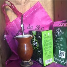 Yerba Mate Starter Set - Basic accessories and loose leaf mate includes FREE authentic Rio Grande do Sul market bag