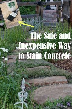 Stain concrete with this inexpensive and safe method