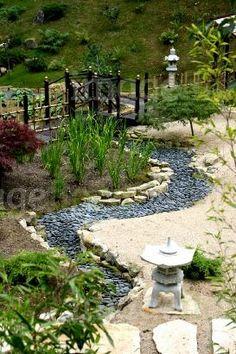 Japanese Gravel Garden New Dry Slate Stream Bed