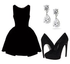 Perfect little black dress outfit