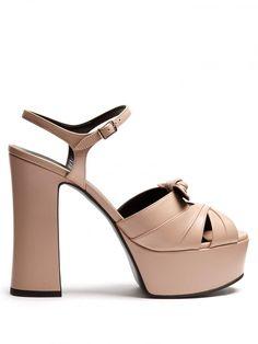 Candy Leather Platform Sandals Saint Laurent  #shoes #sandals Source: http://www.closetonthego.com/e-shop-product/218410/candy-leather-platform-sandals/ © Closet On The Go