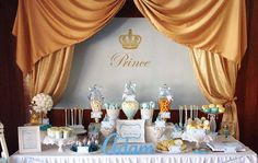 "PRINCE Backdrop Banner Printable Artwork - Print Your Own - 60""w x 40""h. Perfect for a 1st Birthday or Boys Baby Shower"