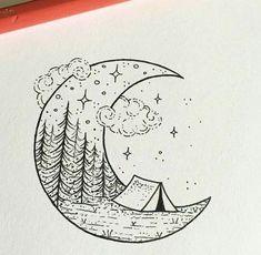 Easy Doodles Drawings, Mini Drawings, Pretty Drawings, Cool Art Drawings, Pencil Art Drawings, Art Drawings Sketches, Cool Drawings Tumblr, Beautiful Easy Drawings, Marker Drawings