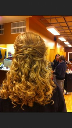 Prom hair. Maybe not so curly??
