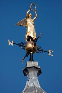 Golden Angel Weather Vane !