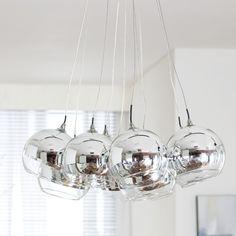dwell - Multi ball shade pendant light