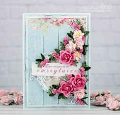 Card: Card with roses