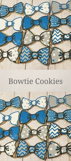 Bow Tie Cookies, Perfect for a Mr. One Birthday Party, Great for Father's day cookies #affiliate