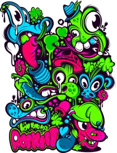 psichoeaters by paulo arraiano Graffiti Art, Graffiti Doodles, Graffiti Cartoons, Art And Illustration, Graphic Design Illustration, Wallpaper Doodle, Psychedelic Drawings, Stoner Art, Grafiti
