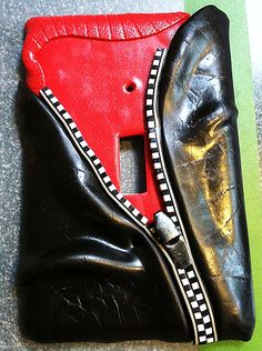 Leather Jacket Light switch plate