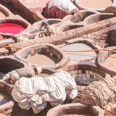 The #leather #tanneries of #Fez #Fes #maroc #morocco #travel #travelphotography #voyage #magazine #ipad #nowmaroc