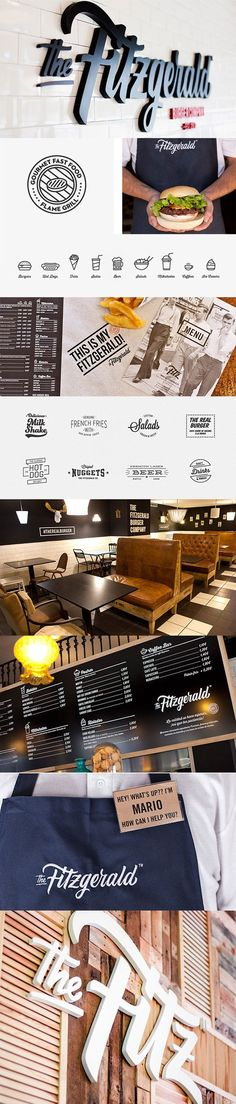 """The Fitzgerald Burger Company"" by Pixelarte - 55 Brand Identity Design Examples for Restaurant Web Design, Design Logo, Brand Identity Design, Cafe Design, Corporate Design, Business Design, Branding Design, Restaurant Identity, Restaurant Design"