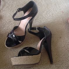 NWT Charlotte Russe black platforms Brand new! Charlotte Russe Shoes Platforms