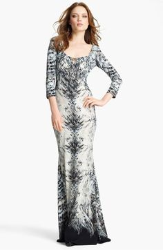 Roberto Cavalli Print Jersey Fishtail Gown available at #Nordstrom