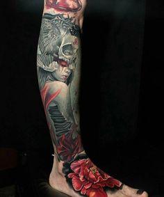 125 Best Leg Tattoos For Men: Cool Ideas + Designs Guide) Shin Tattoo, Knee Tattoo, Leg Sleeve Tattoo, Leg Tattoo Men, Calf Tattoo, Get A Tattoo, Upper Leg Tattoos, Best Leg Tattoos, Latest Tattoos