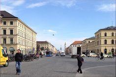 Odeonsplatz looking to Ludwig Strasse (Siegestor) - Munich/ München, Germany/Deutschland