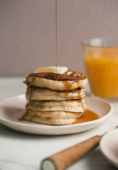 Fluffy Ricotta Lemon-y Pancakes from A Cozy Coloring Cookbook