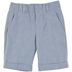 Billybandit - Striped cotton twill shorts - Blue - 102541