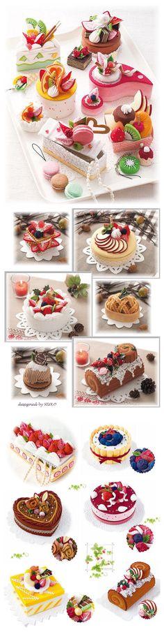 Gâteaux en feutrine. On en mangerait!