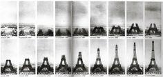 Eiffel Tower, Construction, Paris, Tower, Vintage