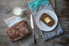 Maple Olive Oil Banana Bread /sub: coconut flour and coconut yogurt or use quality dairy and sub honey for brown sugar or use coconut sugar.