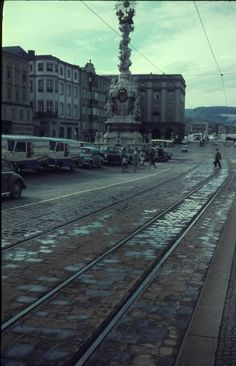 Hauptplatz Linz Austria 1966 Austria, Around The Worlds, Street View, Vintage, Vienna, Linz, Passau, Historical Pictures, Travel Destinations