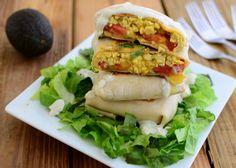 Tofu scramble wraps (Veggie on a Penny)