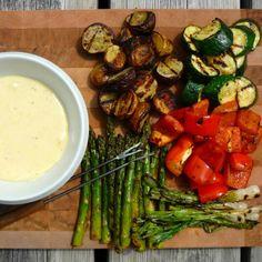 Fondue aux fromages d'ici et légumes