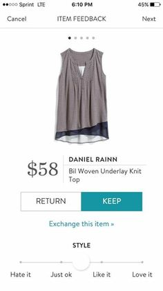 #stitchfix @stitchfix stitch fix https://www.stitchfix.com/referral/3590654    I feel like this would lay in a very flattering way, and I love the contrast detail at the bottom