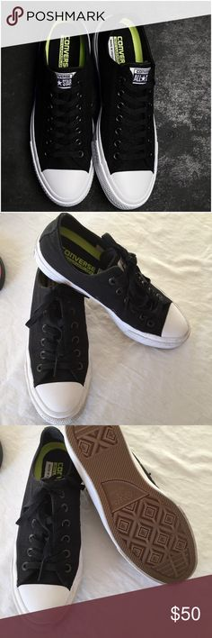 super popular 81ab0 ff01f Converse, chuck 2 s, black, lowtop, size 7.5 All new redesigned chuck taylor