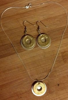 12+gauge+shotgun+shell+dangle+earrings+with+by+ShElliottsCreations,+$35.00