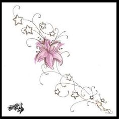 Flower Tattoos: side tattoo design | Flower Tattoo